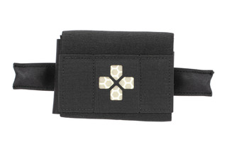 The Blue Force Gear Micro Trauma Kit Now Belt Mounted comes in black and is empty