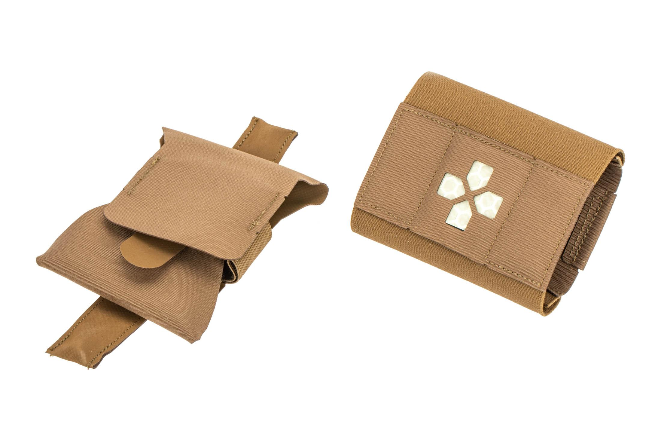 The Blue Force Gear Micro TKN Brown Medical Kit separates into two pouches
