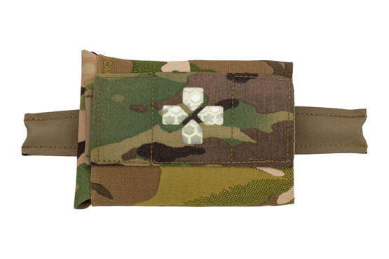 The Blue Force Gear Belt Mounted Micro Trauma Kit Now Pouch comes with a multicam design