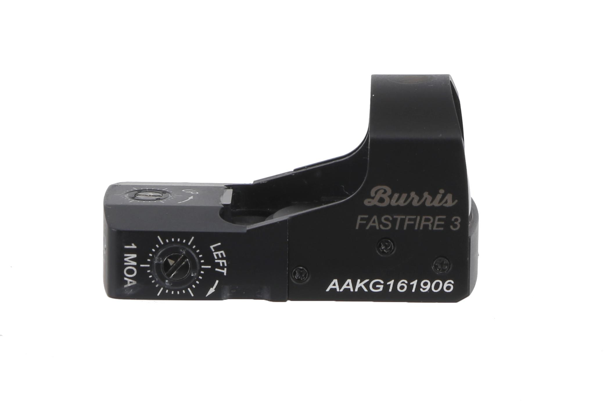 The Burris Optics FastFire III red dot sight is made from durable, shockproof aluminum