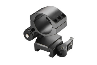 The Burris Optics flip to side magnifier mount for 30mm tubes features a quick detach lever