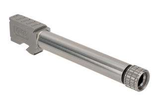 Grey Ghost Precision threaded match grade 416R stainless barrel for Gen 3/4 Glock 17 handguns with slick finish