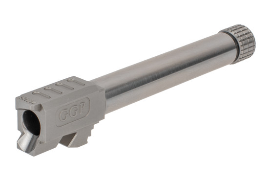 GGP threaded Glock G17 barrel features a match-grade SAAMI-spec 9mm chamber and tough finish