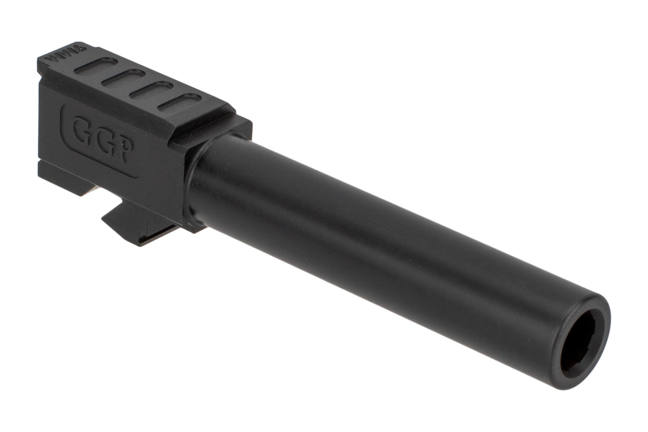 Grey Ghost Precision match grade 416R stainless barrel for Gen 3/4 Glock 19 handguns with slick nitride finish