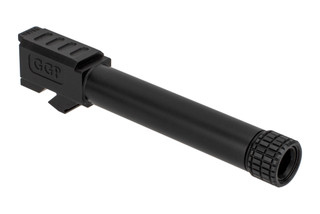 Grey Ghost Precision threaded match grade 416R stainless barrel for Gen 3/4 Glock 19 handguns with slick nitride finish