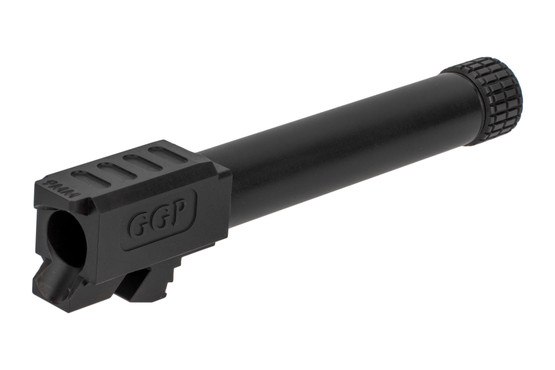 GGP threaded Glock G19 barrel features a match-grade SAAMI-spec 9mm chamber and tough black nitride finish