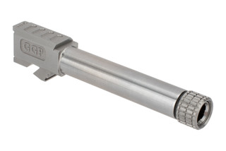 Grey Ghost Precision threaded match grade 416R stainless barrel for Gen 3/4 Glock 19 handguns with slick finish