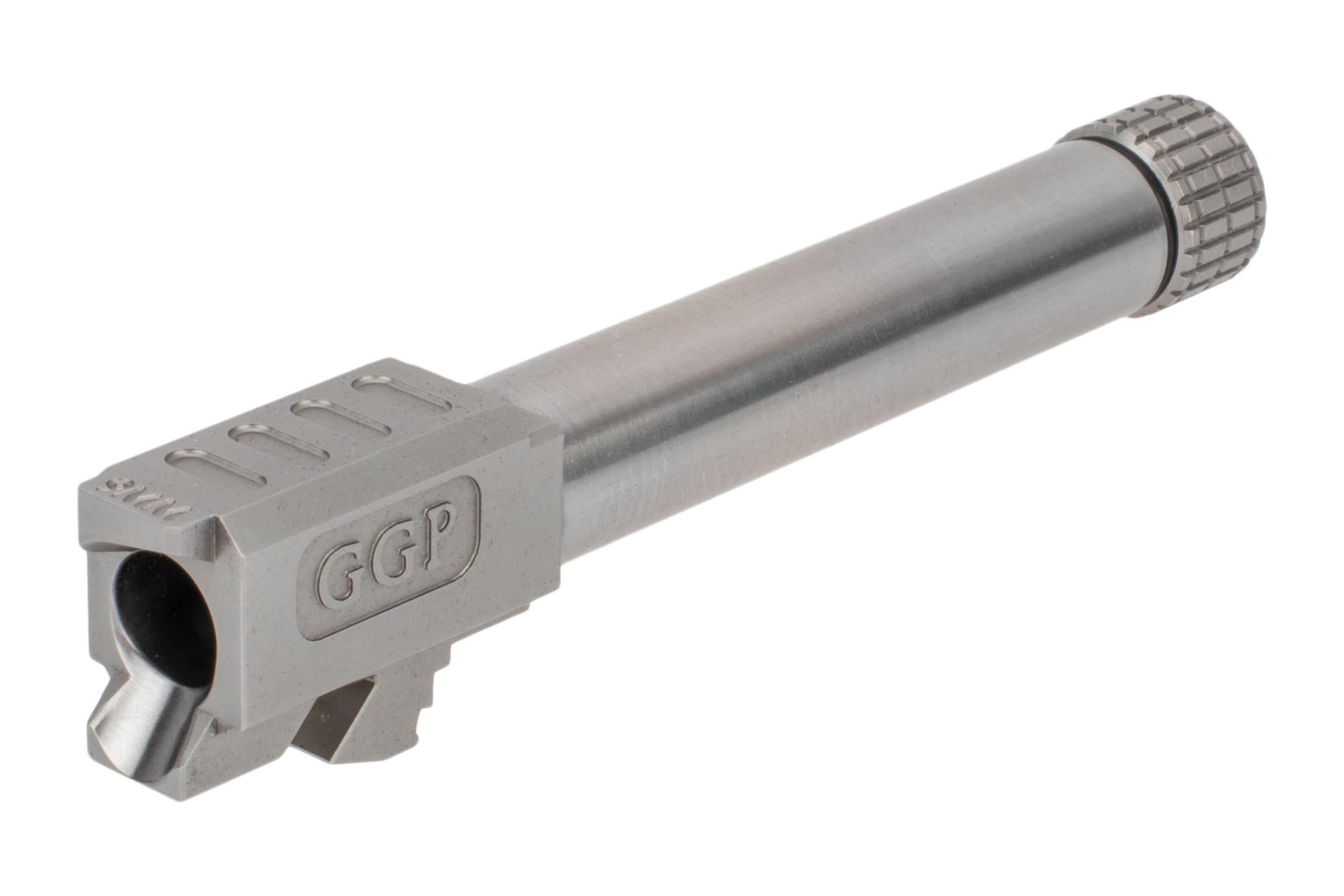 GGP threaded Glock G19 barrel features a match-grade SAAMI-spec 9mm chamber and tough finish