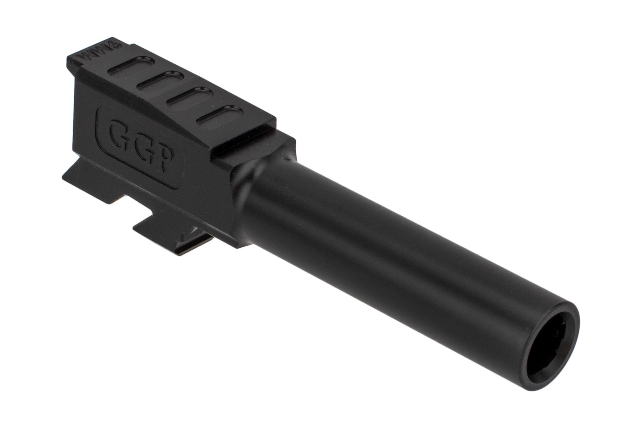 Grey Ghost Precision threaded match grade 416R stainless barrel for Glock 43 handguns with slick nitride finish
