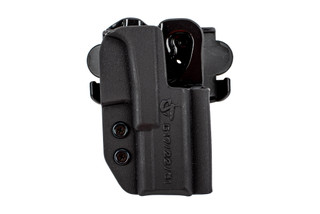 CompTac International Glock 17 holster features an OWB design and is made from Kydex