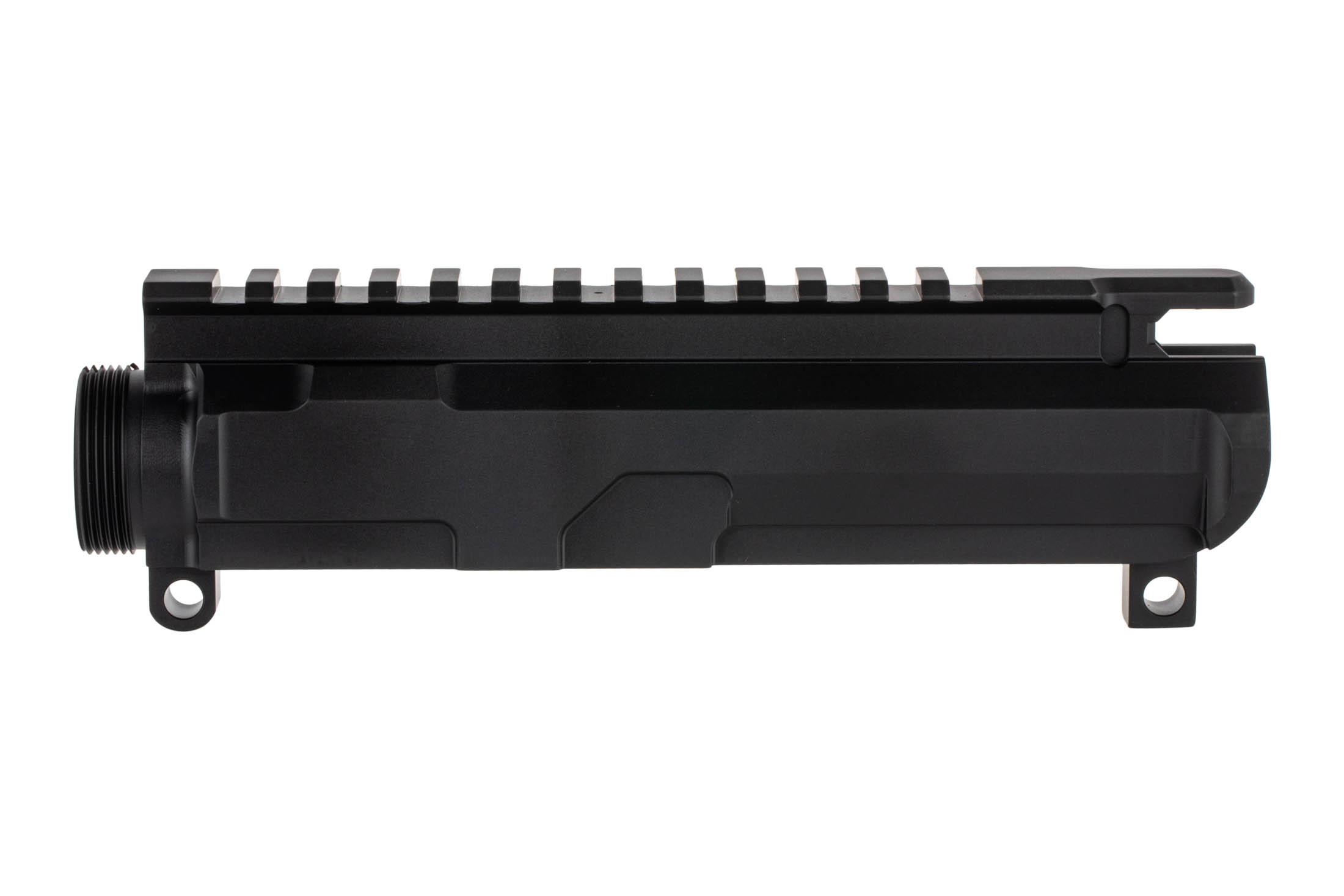 The Centurion Arms C4 AR15 Billet upper receiver is hardcoat anodized black