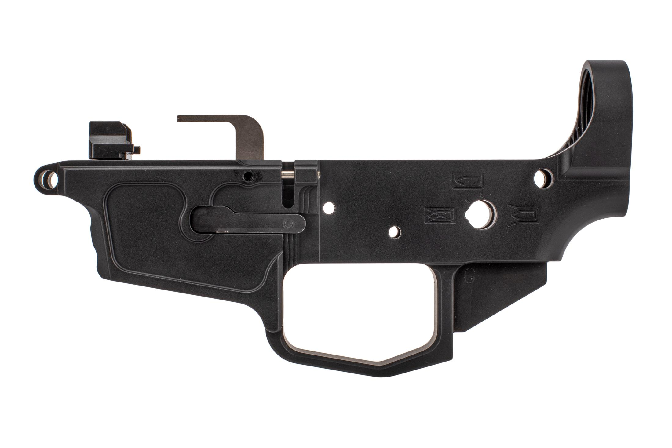 New Frontier 9mm stripped lower compatible with MP5 mags can use ambidextrous safety selectors