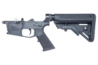 The New Frontier Armory C9 complete 9mm lower receiver comes with a B5 bravo stock