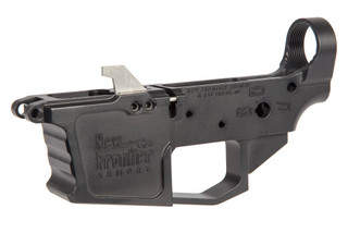 The New Frontier Armory 9mm lower receiver is compatible with Glock magazines