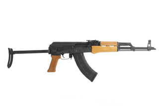 Century Arms 16.5in under folding Hungarian 7.62x39mm AK-47 rifle designation AK63DS with slant brake and 30 round mag.