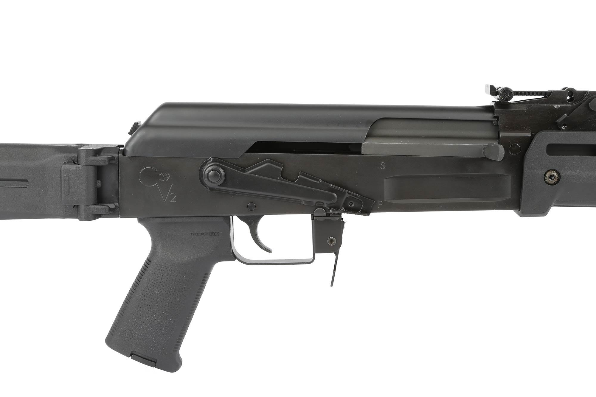 The Century Arms C39v2 Zhukov AK47 rifle is fully assembled with polymer Magpul furniture