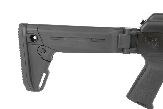 The Century International Arms C39v2 AK47 rifle comes with a Zhukov S stock
