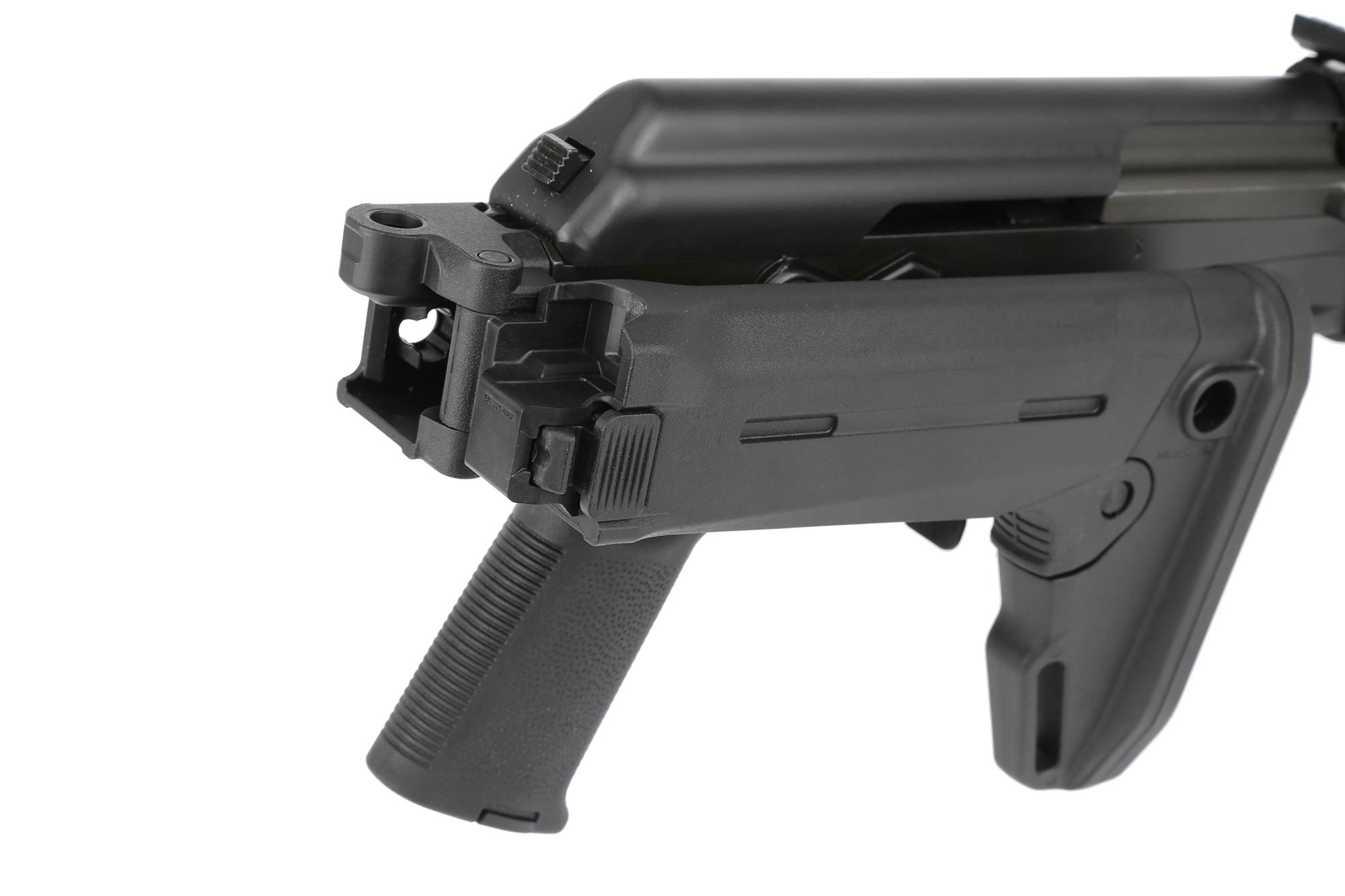 The Century International Arms C39 AK has a side folding stock adapter for a compact rifle setup