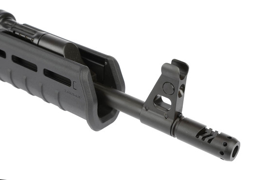 The Century C39v2 AK-47 features a chevron muzzle brake for reducing muzzle rise