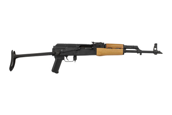 Century Arms WASR-10 Romanian rifle with under folding stock is chambered for 7.62x39mm with a folding stock for compact storage