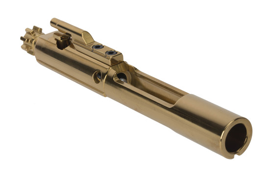Cryptic Coatings Mystic Gold AR-15 bolt carrier group for 5.56 NATO has an ultra-slick 0.45 coefficient of friction