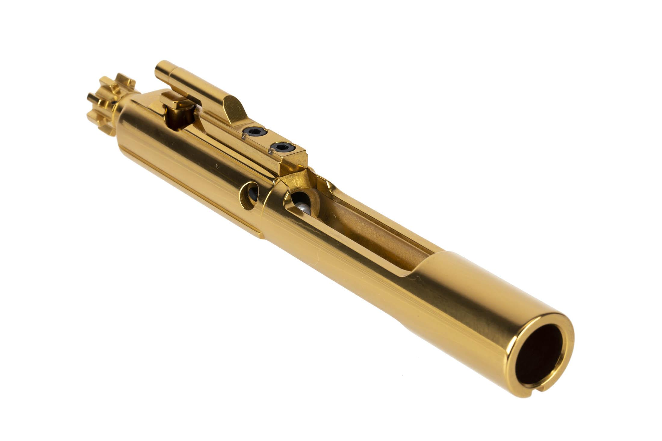 Cryptic Coatings 6.8 SPC AR-15 bcg with Mystic Gold finish has fully MIL-SPEC construction