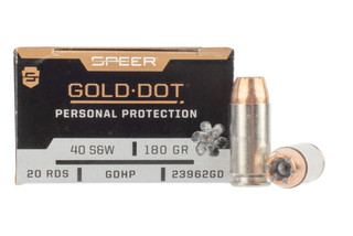 Speer Gold Dot .40 S&W hollow point ammunition with nickel plated brass