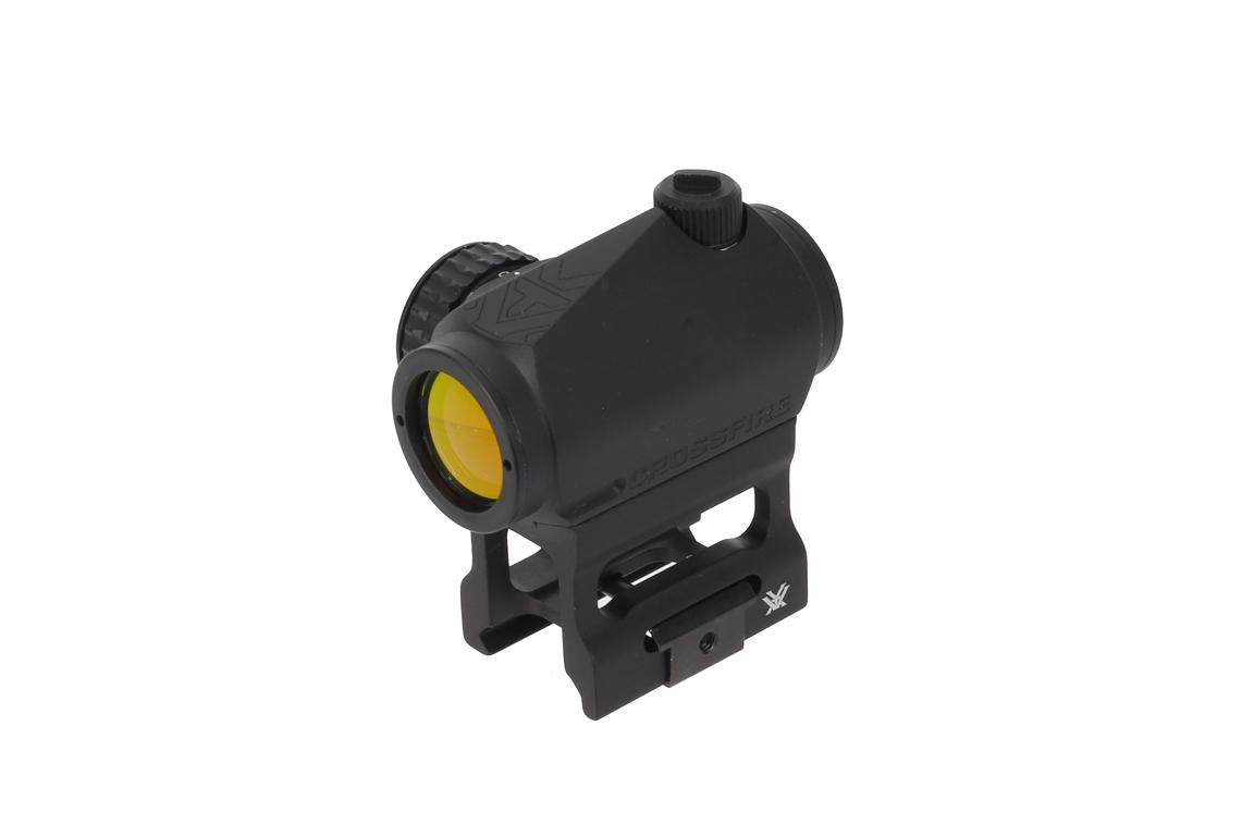 The Vortex Crossfire lasts up to 7,000 hours on the medium illumination setting