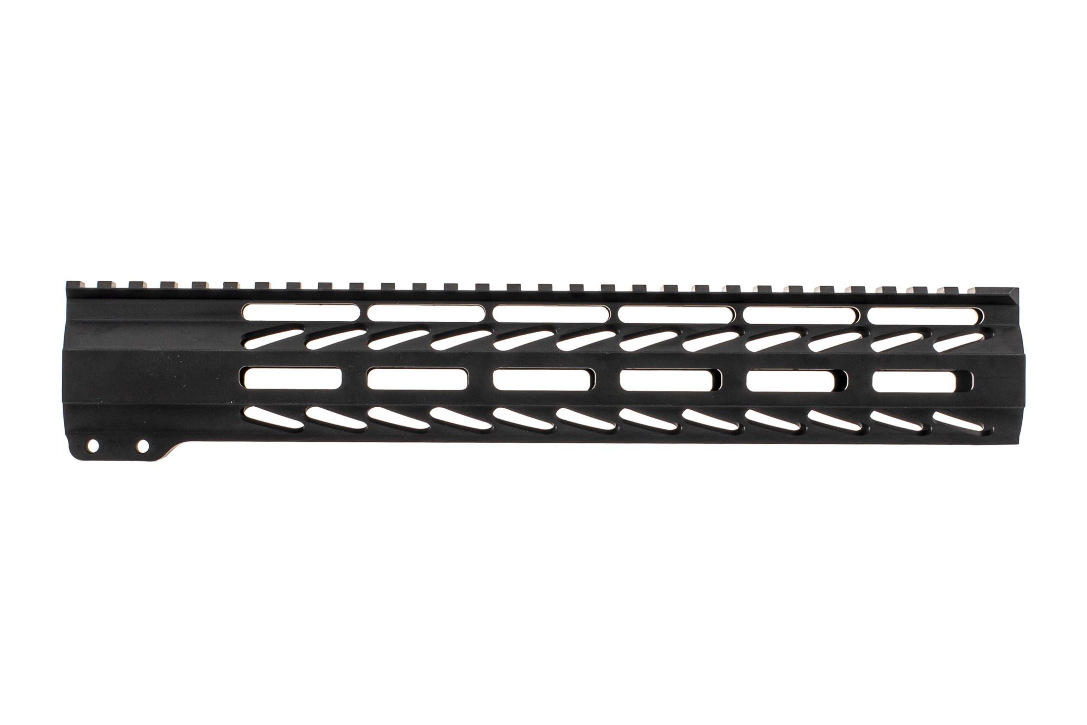 Ghost Firearms free float logoless AR 15 M-LOK rail features a tough black anodized finish and full length 12 top rail.