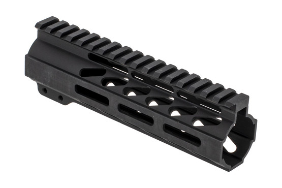 "Ghost Firearms 7"" free float M-LOK handguard for the AR-15 with black anodized finish and no logos."