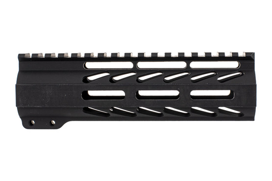 "Ghost Firearms free float logoless AR 15 M-LOK rail features a tough black anodized finish and full length 7"" top rail."