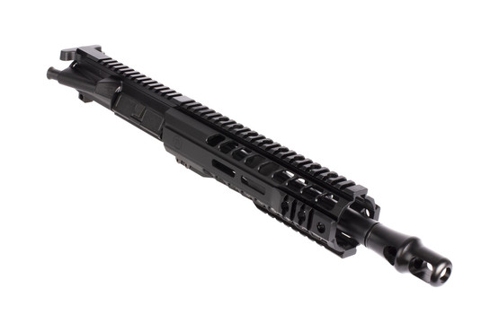 Radical Firearms 10.5in .458 SOCOM complete AR-15 upper receiver features a hybrid 9in M-LOK free float handgaurd and flat top
