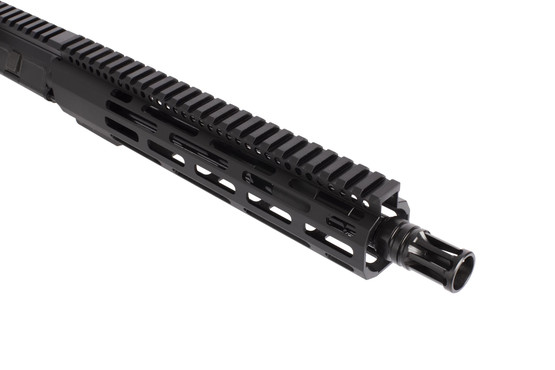 Radical Firearms 10.5in complete AR-15 upper in 5.56 NATO is threaded 1/2x28 with an effective A2 flash hider.