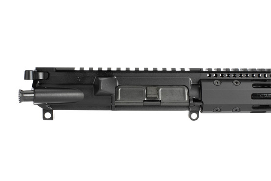 Radical 10.5in complete 7.62x39 ar 15 upper has a flat top receiver with forward assist and ejection port door cover