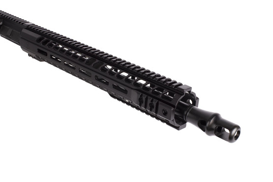 Radical Firearms complete 16in .458 SOCOM upper receiver for the AR 15 is threaded 5/8x32 and equipped with a Panzer brake