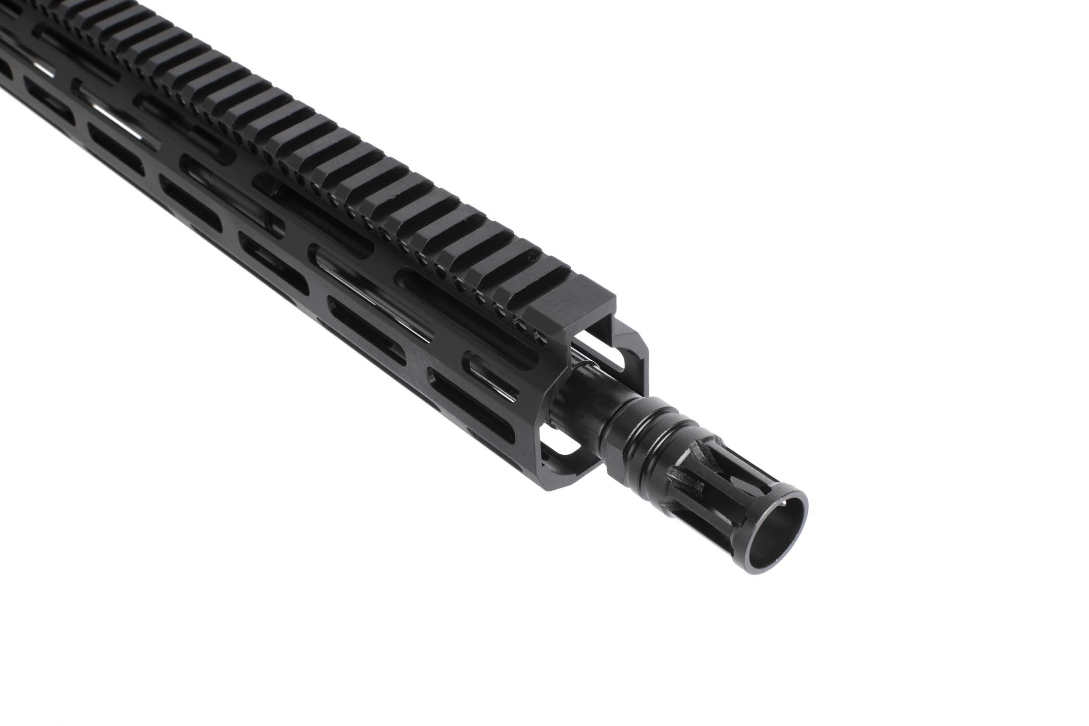 Radical Firearms 16in complete 5.56 NATO Ar 15 upper receiver is topped with 1/2x28 threading and an effective A2 flash hider