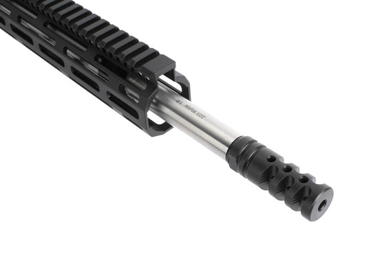 Radical Firearms 18in heavy barreled .223 Wylde complete AR15 upper receiver is threaded 1/2x28 with Zero Impulse brake