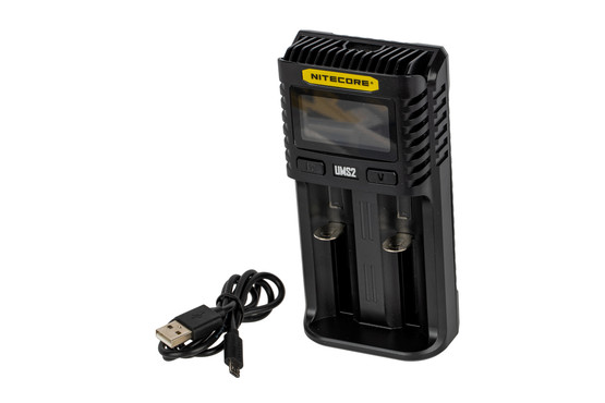 The NITECORE UMS2 Superb Battery Charger is compatible with a wide range of batteries