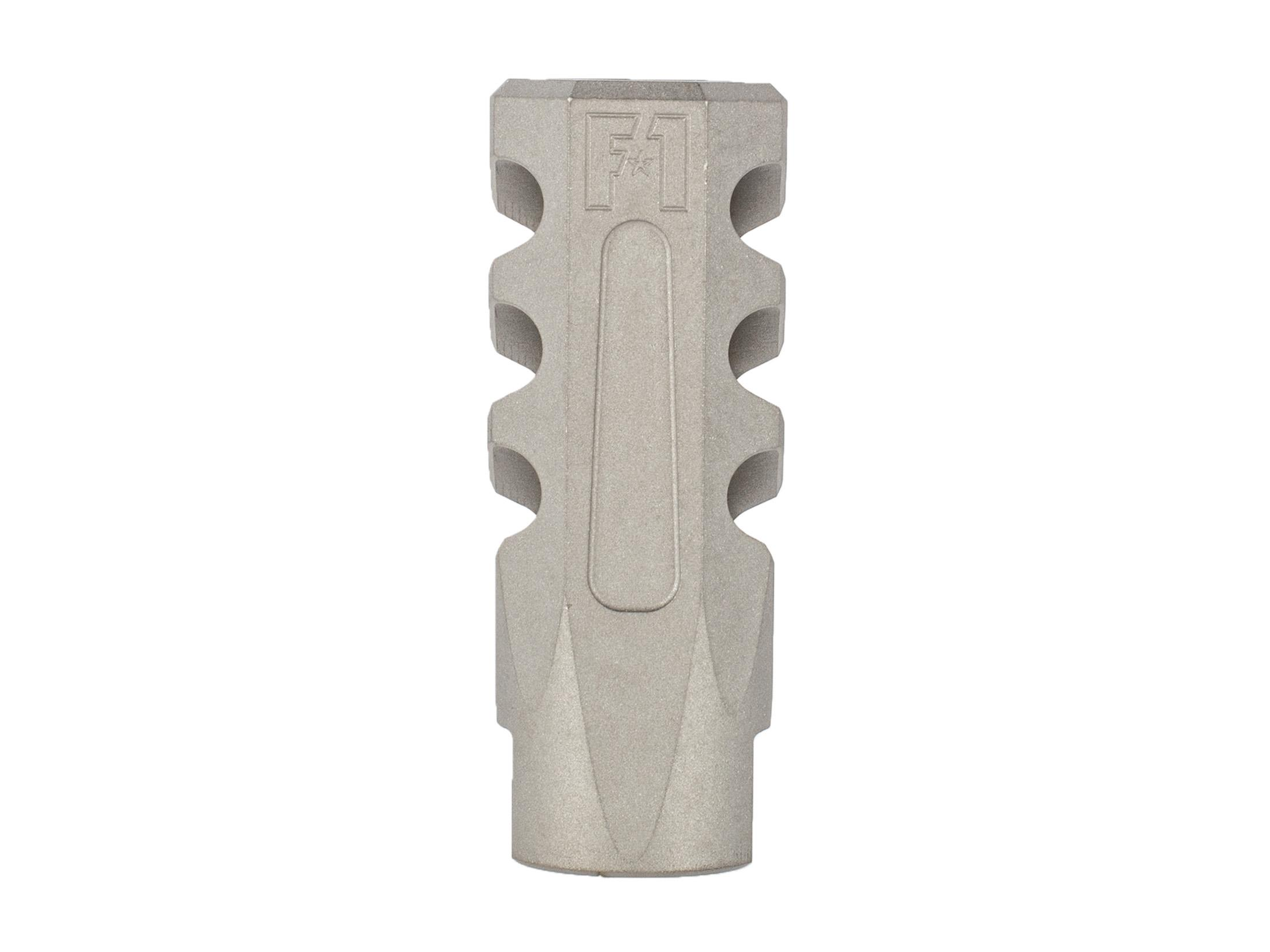 F-1 Firearms 5.56 Flat Faced Compensating Brake - Stainless