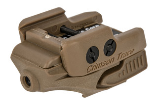 Crimson Trace Rail Master universal red laser sight with coyote tan body for handguns and carbines