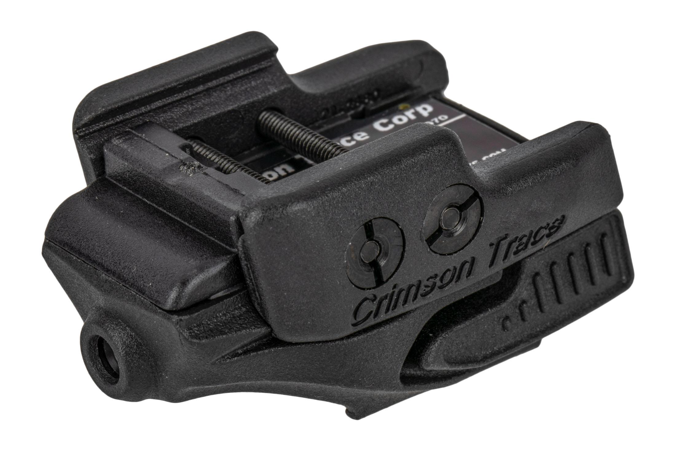 Crimson Trace Rail Master universal red laser sight with black body for handguns and carbines