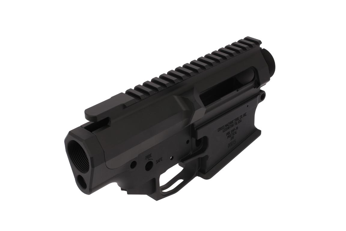 The Cross Machine Tool AR10 receiver set is compatible with DPMS pattern parts