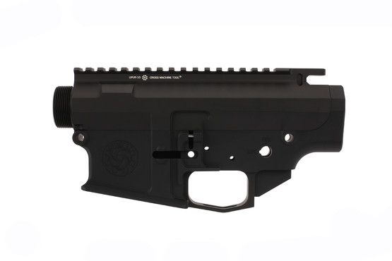 The Cross Machine Tool Billet LR-308 receiver set features a flared magwell