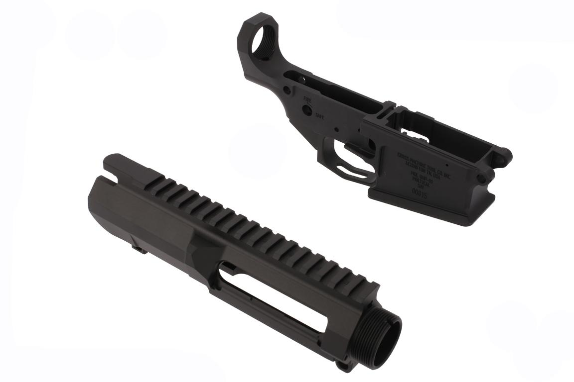 The CMT AR10 billet receiver set features an upper tensioning screw