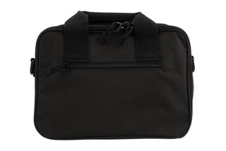 VISM Double Pistol Black Range Bag by NcSTAR holds 2 full framed semi-auto pistols with extra storage for magazines and tools