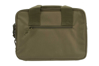 NcSTAR VISM Double Pistol Green Range Bag features padded carry handles and an adjustable shoulder strap