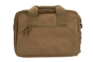 NcSTAR VISM Double Pistol Tan Range Bag features padded carry handles and an adjustable shoulder strap