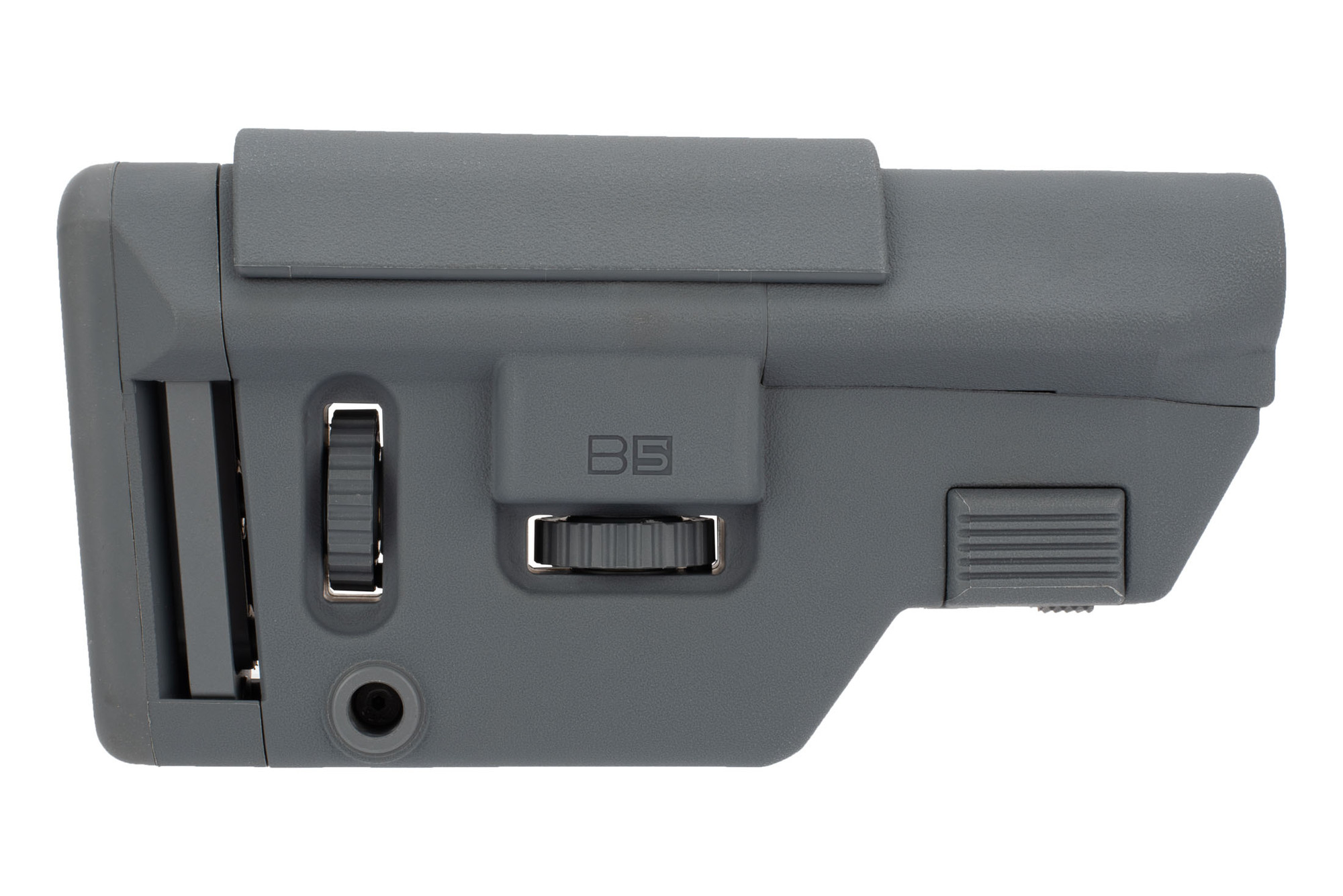B5 Systems AR-15 Collapsible Precision Stock - Wolf Gray