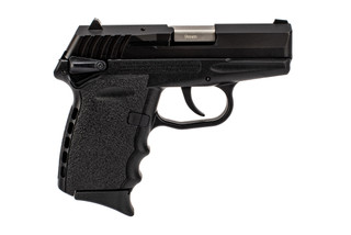 SCCY CPX-1 9mm sub-compact handgun in black with ambidextrous safeties.