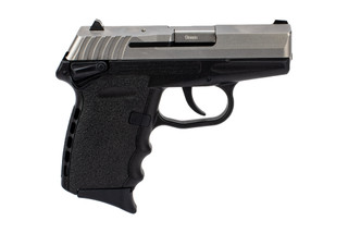 SCCY CPX-1 9mm sub-compact handgun in stainless with ambidextrous safeties.